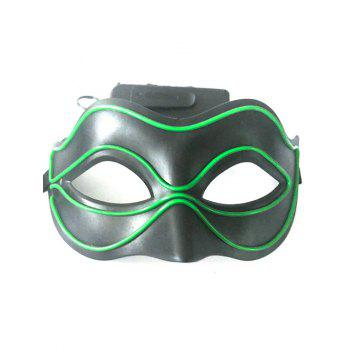 Halloween Party EL Glowing Mask - EMERALD GREEN