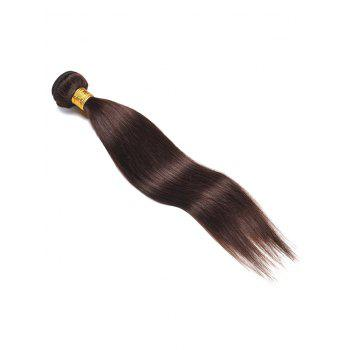 Indian Virgin Real Human Hair Straight Hair Weve - DEEP BROWN 12INCH
