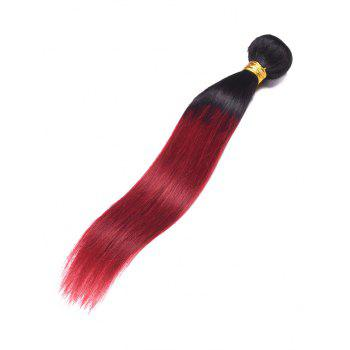 Indian Virgin Human Hair Ombre Straight Hair Weave - multicolor 14INCH