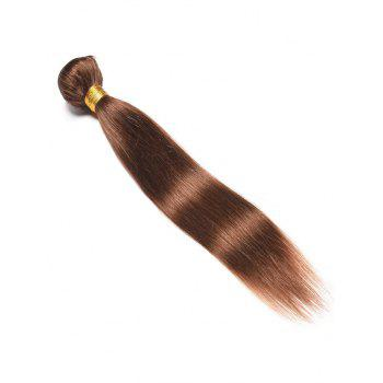 Indian Real Human Hair Straight Hair Weave - BROWN 10INCH