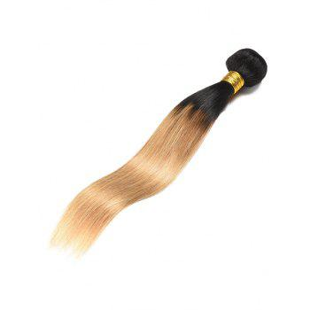 Ombre Straight Real Human Hair Weft - multicolor 16INCH