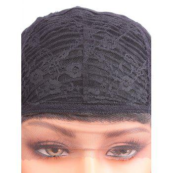 Short Free Part Kinky Curly Synthetic Lace Front Wig - BLACK