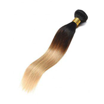 Real Human Hair Ombre Straight Hair Weft - multicolor 24INCH
