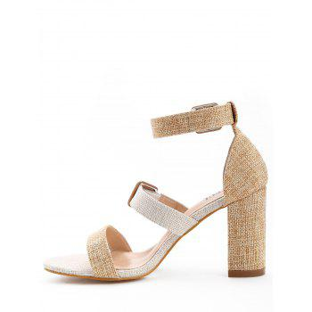 Ankle Strap High Heel Sandals - APRICOT 36