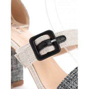 Ankle Strap High Heel Sandals - BLACK 38