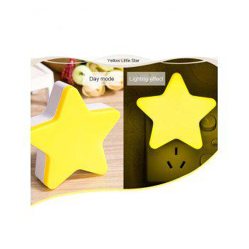 LED Optical Controller Star Night Light - SUN YELLOW US PLUG (2-PIN)