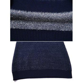 Casual Soft Level Stripe Sweater - BLUEBERRY BLUE M