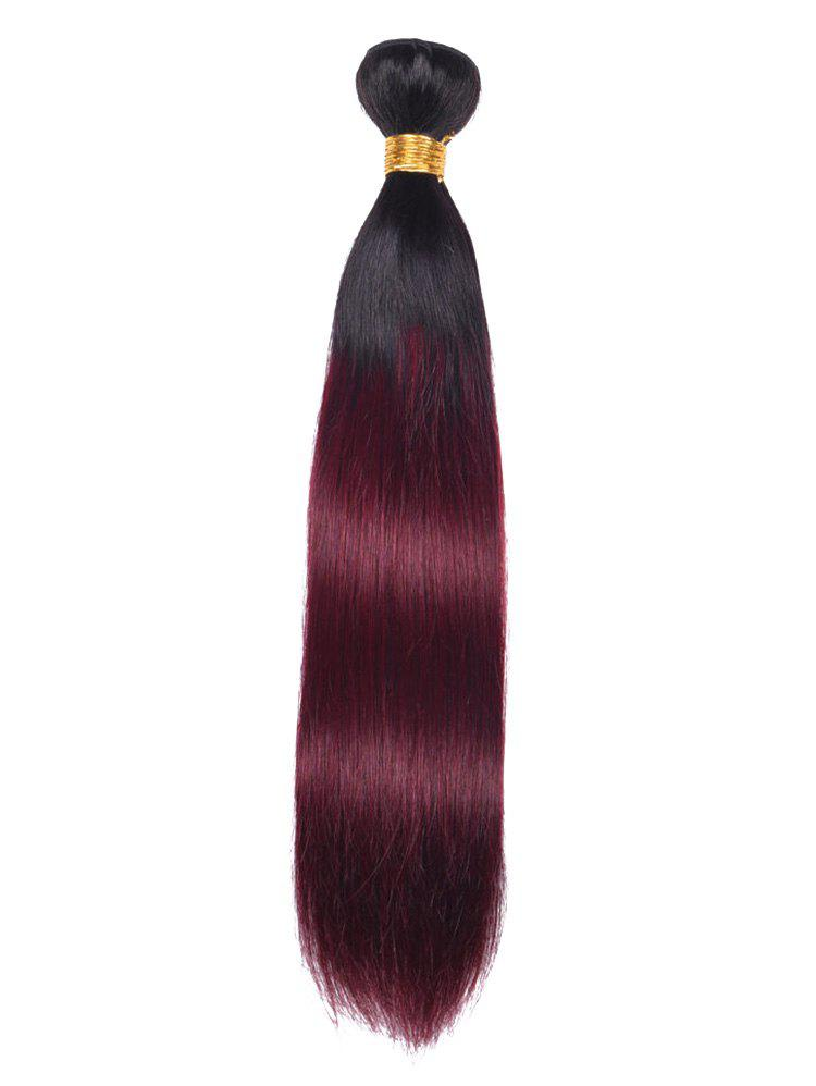 Ombre Straight Indian Virgin Human Hair Weave - multicolor 20INCH
