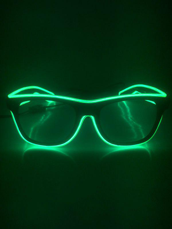 Lunettes Lumineuses pour Fête Cosplay - Vert Emeraude