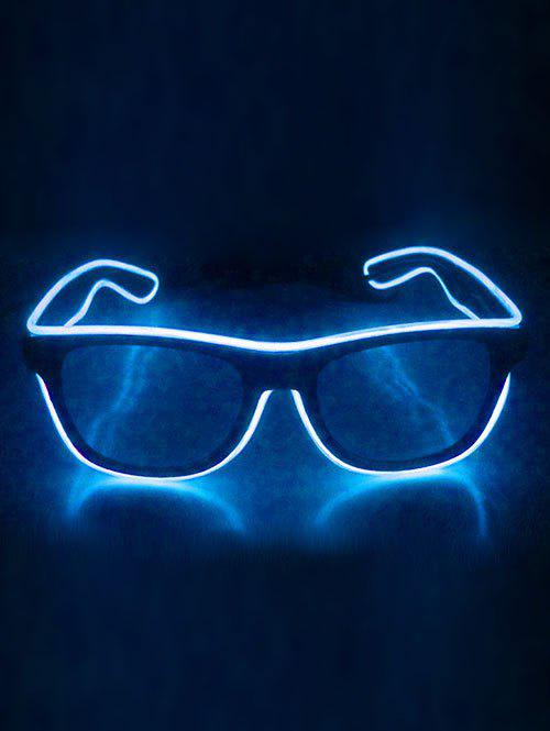 EL Glowing Glasses Party Cosplay - WHITE