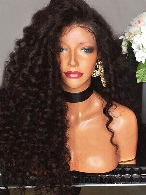 Long Big Curly Heat Resistant Synthetic Wig - BLACK