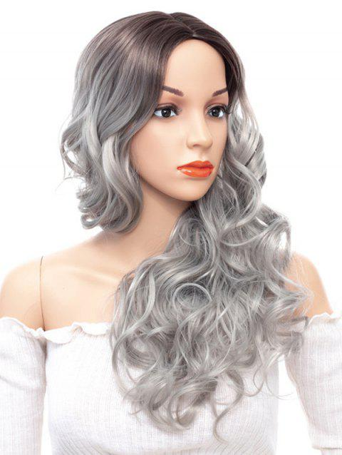 Long Middle Part Ombre Loose Wave Party Synthetic Wig - GRAY CLOUD