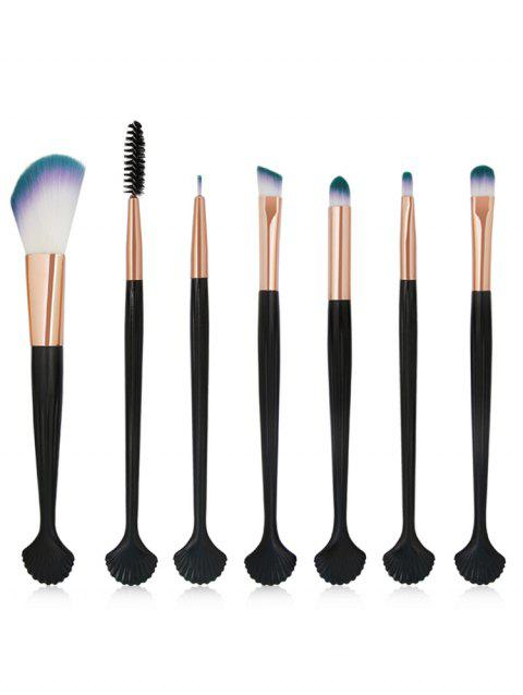 Cosmetic 7Pcs Shell Shaped Eyeshadow Blending Eyebrow Makeup Brush Suit - ROSE GOLD