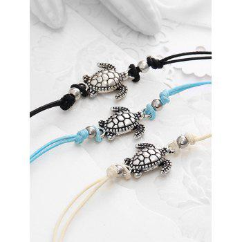 Alloy Sea Turtle Foot Jewelry Anklet Set - multicolor A