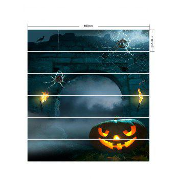 Halloween Stone Door Pattern Stair Stickers - multicolor 6PCS:39*7 INCH( NO FRAME )