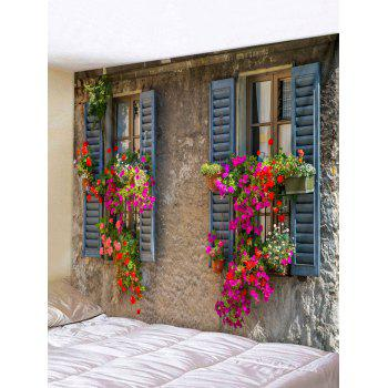 Window Flower Wall Printed Tapestry Art Decoration