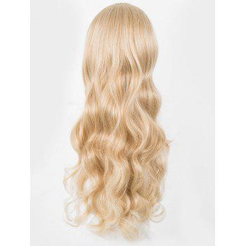 Long Middle Part Wavy Capless Party Synthetic Wig - GOLD