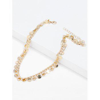 Collier ras du cou en paillettes - Or
