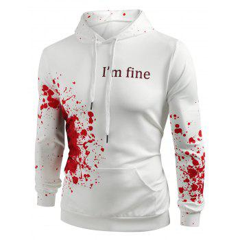 Halloween Inspired Spatter Letter Pattern Casual Pullover Hoodie