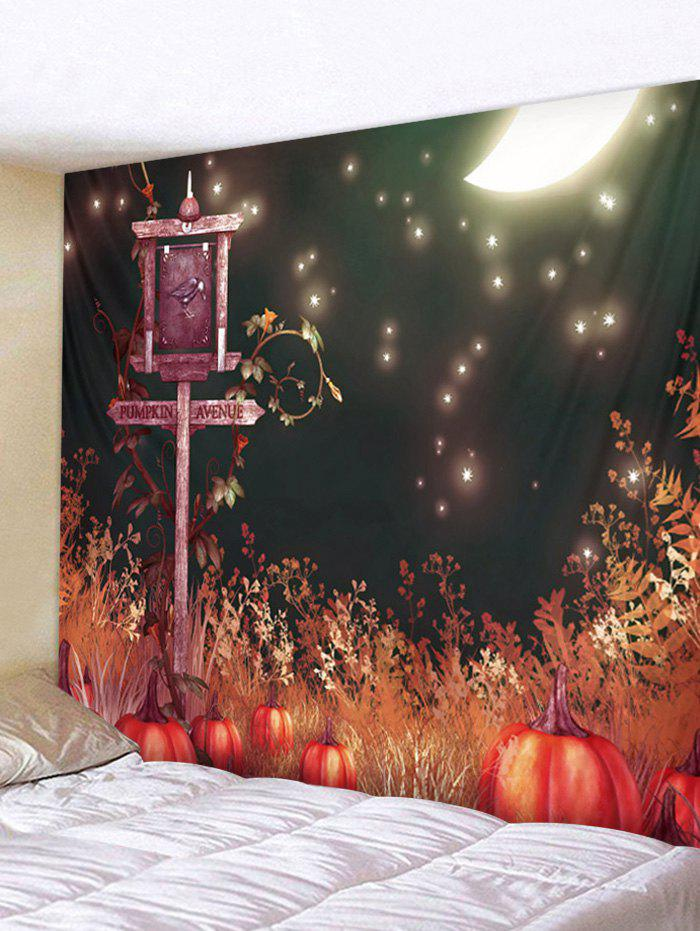 Halloween Starry Sky Print Tapestry Wall Art - multicolor W79 INCH * L59 INCH