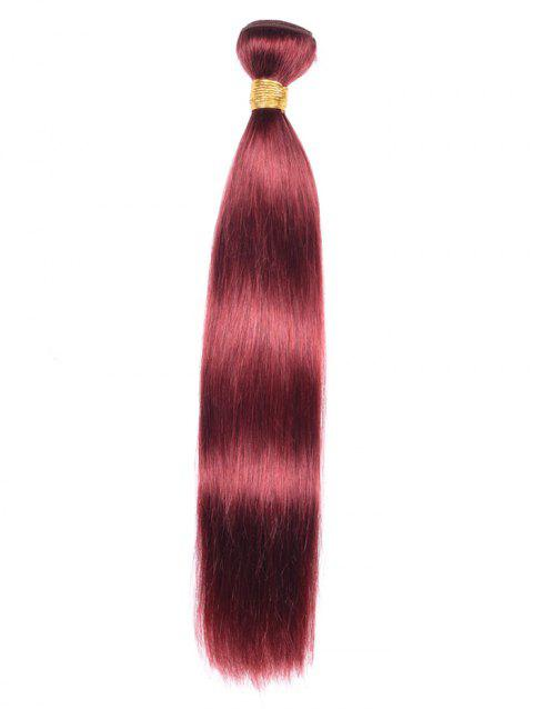 Indian Virgin Real Natural Hair Straight Hair Weave - RED WINE 12INCH