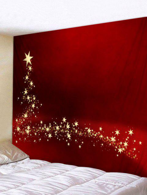 Christmas Star Tapestry Wall Home Decoration - multicolor W91 INCH * L71 INCH
