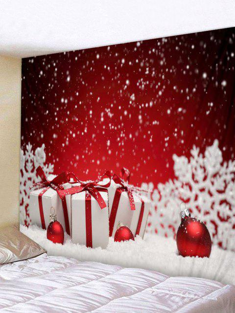 Snowy Christmas Gifts Print Tapestry Wall Art - RED W71 INCH * L71 INCH