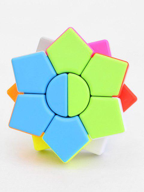 Qiyi Star Hexagonal Magic Cube Puzzle Speed Game Education Toy - multicolor