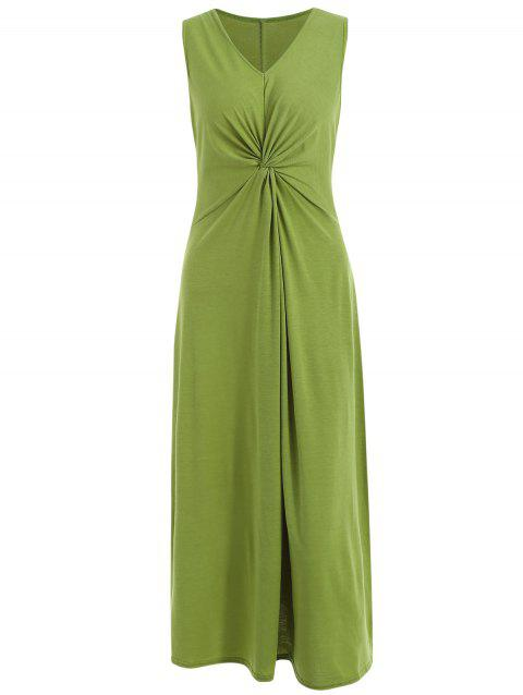 Twist Front Sleeveless Maxi Dress - FERN GREEN S