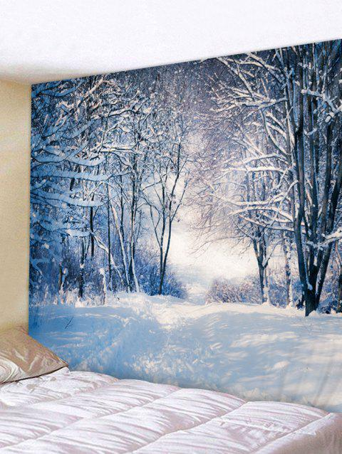 Christmas Snow Scene Printed Tapestry Wall Art Decoration - multicolor W91 INCH * L71 INCH