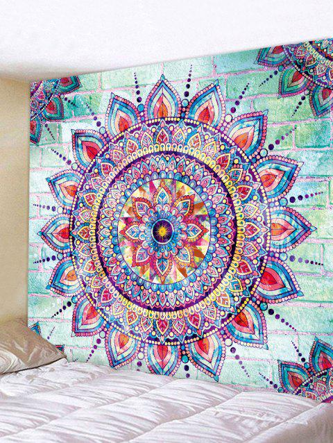 Mandala and Brick Printed Wall Art Tapestry - multicolor W91 INCH * L71 INCH