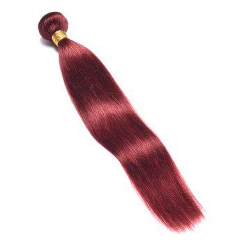 Indian Virgin Real Natural Hair Straight Hair Weave - RED WINE 16INCH