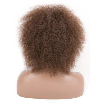 Short Bouffant Curly Corn Hot Synthetic Wig - BROWN