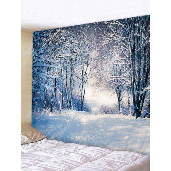 Christmas Snow Scene Printed Tapestry Wall Art Decoration