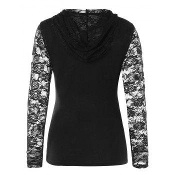 Zip Up Lace Jacket with Tube Top - BLACK XL