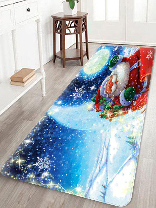 Christmas Santa Claus Pattern Anti-skid Area Rug - multicolor W24 INCH * L71 INCH