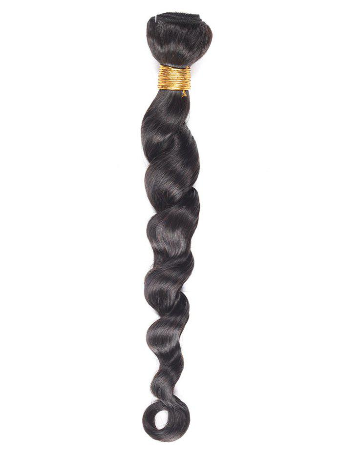 Loose Deep Wave Real Human Hair Weave - BLACK 24INCH