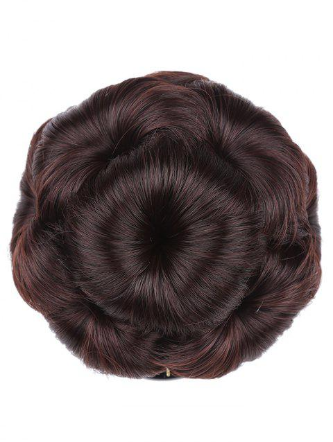 Clip in Curled Flower Synthetic Hair Bun Wig - multicolor A