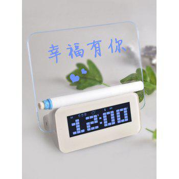 LCD Alarm Clock with Message Reminder Board - BLUE