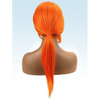 Long Side Bang Straight Synthetic Cosplay Wig - ORANGE