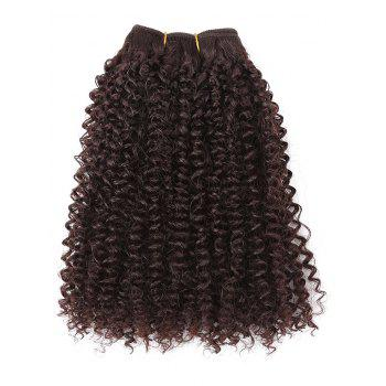 Synthetic Straight Style Wig Hair Clips Hair Weaves Set - DEEP BROWN