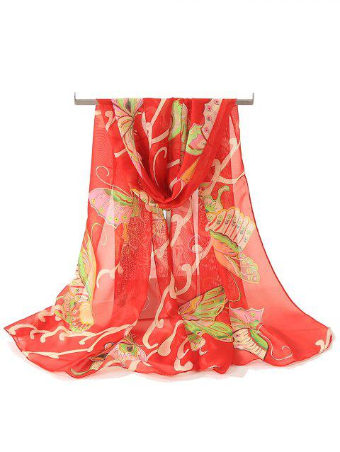Vintage Butterfly Printed Spring Fall Scarf - multicolor E