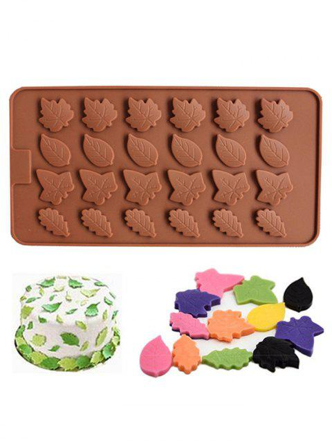 Leaf Shape Silicon Chocolate Mold - BROWN