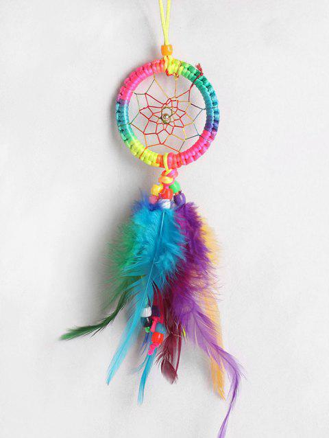 Plume colorée à la main Dream Catcher - multicolor 30*6CM