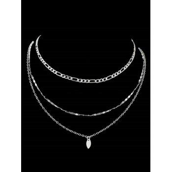 Simple Style Alloy Layered Necklace - SILVER