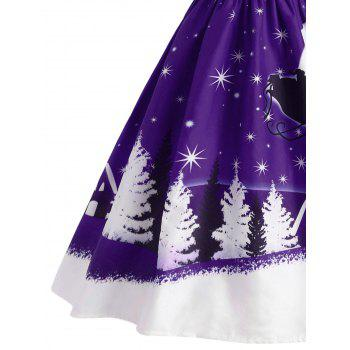 Santa Claus Deer Christmas Vintage Dress - CONCORD L