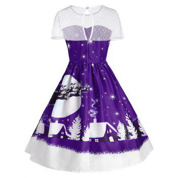 Santa Claus Deer Christmas Vintage Dress - CONCORD S