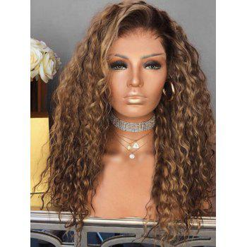 Long Inclined Bang Curly Colormix Party Synthetic Wig