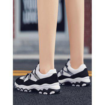 Color Block Chunky Running Sneakers - WHITE EU 40