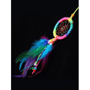 Colorful Feathers Handmade Dream Catcher - multicolor 30*6CM